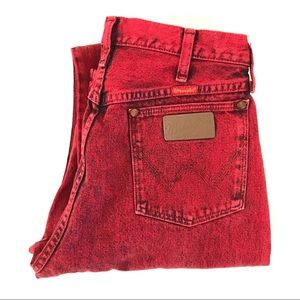 Vintage high waist acid Wrangler skinny Jeans
